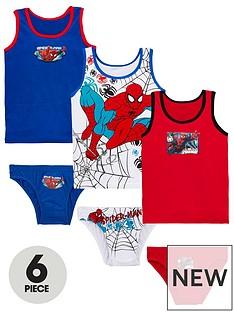 spiderman-spider-man-6-piece-vest-and-brief-set