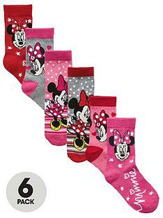 minnie-mouse-6-pk-girls-socks