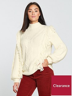 v-by-very-fringe-trim-cable-detail-jumper-cream