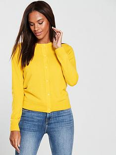 v-by-very-supersoft-crew-neck-cardigan-saffron-yellow
