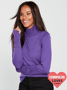 v-by-very-rib-turtleneck-and-cuff-jumper-purple