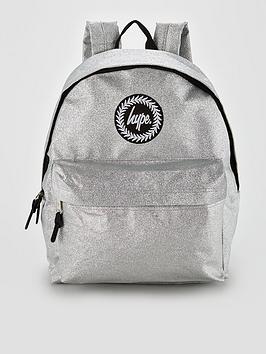Hype Sparkle Glitter Backpack - Silver
