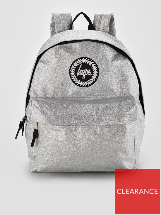 4ab2fd96283e Hype Sparkle Glitter Backpack - Silver