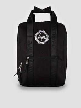 Hype Boxy Crest Black Backpack