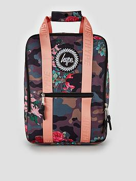 Hype Boxy Camo Floral Backpack