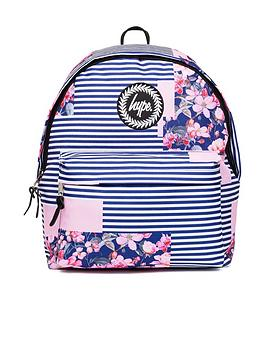hype-floral-stripe-backpack