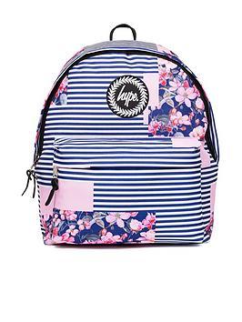 Hype Floral Stripe Backpack