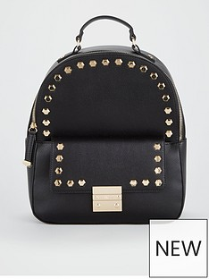 carvela-rower-studded-backpack-black