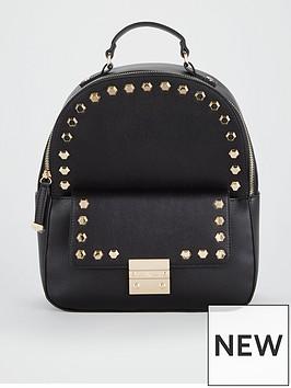 carvela-rower-studded-backpack-black