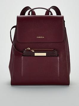 carvela-slinky-backpack-wine