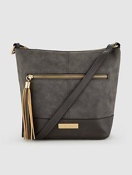 Carvela Betty Large Crossbody Bag - Grey