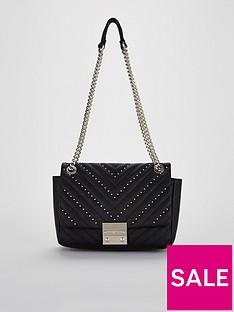 carvela-binky-jewel-lock-velvet-shoulder-chain-handle-bag-black