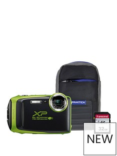 fuji-fujifilm-finepix-xp130-tough-lime-green-camera-bundle-inc-16gb-sd-card-and-case