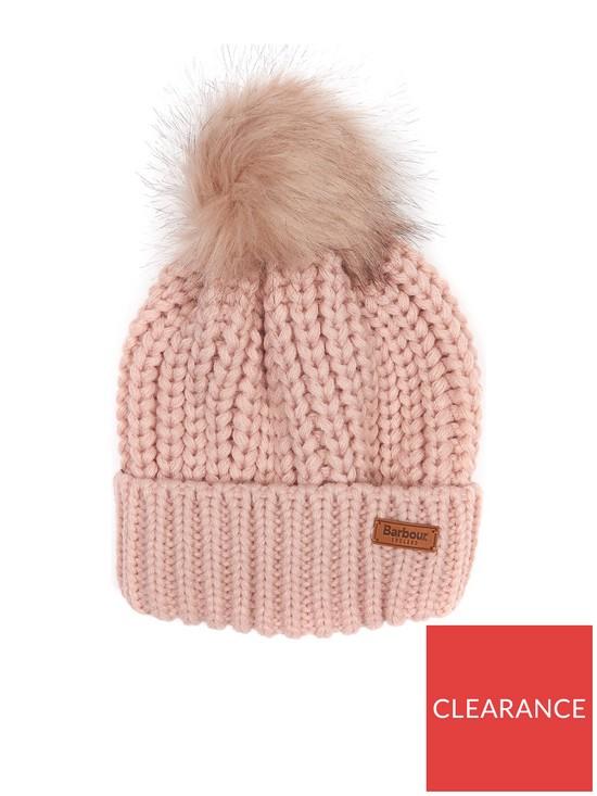 Barbour Saltburn Beanie - Pink  04ad25ebf83