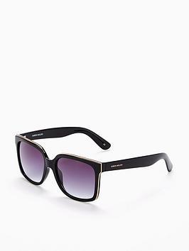 Karen Millen Black Logo Sunglasses