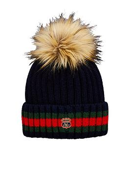 superdry-aimee-stripe-ribbed-beanie-hat
