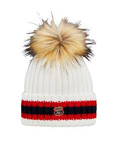 superdry-aimee-stripe-ribbed-beanie-hat