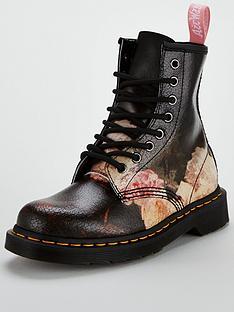 dr-martens-8-eye-1460-rose-flower-power-boot-black