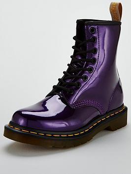 Dr Martens 1460 Vegan Chrome 8 Eye Ankle Boot - Dark Purple