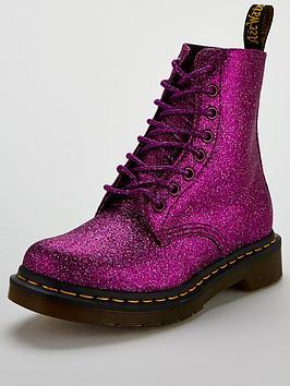 Dr Martens Glitter 8 Eye Boot - Purple