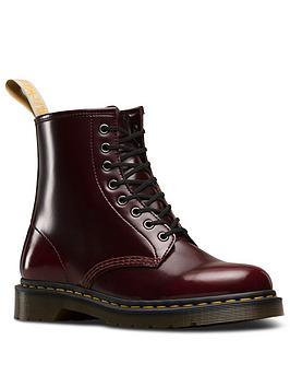 Dr Martens Vegan 1460 Cherry 8 Eye Ankle Boot