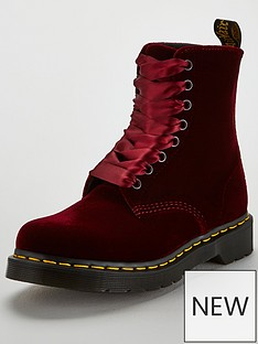dr-martens-pascal-velvet-8-eyelet-ankle-boot-cherry-red