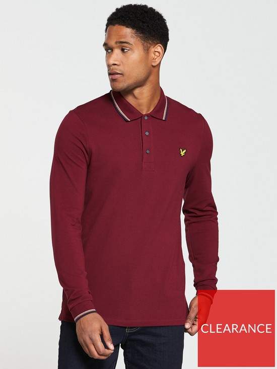 7091608f8 Lyle   Scott LS Tipped Polo Shirt