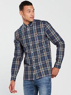lyle-scott-lyle-amp-scott-poplin-fine-check-shirt