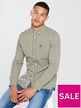 lyle-scott-lyle-amp-scott-ls-slim-fit-gingham-shirt