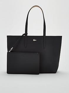 60e07fc74 Lacoste Lacoste Anna Black warm Sand Shopper Tote Bag