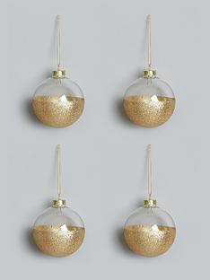 set-of-4-gold-dipped-glass-christmas-tree-baubles