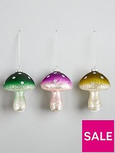 set-of-3-glass-mushroom-hanging-christmas-tree-decorations