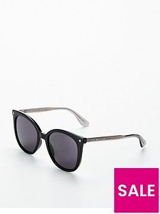 tommy-hilfiger-star-detail-cateye-sunglasses-black