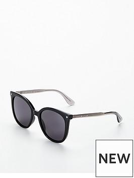 tommy-hilfiger-star-detail-cateye-sunglasses-black