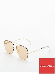 08b17b64d7 Tommy Hilfiger Brow Bar Sunglasses - Brown Gold