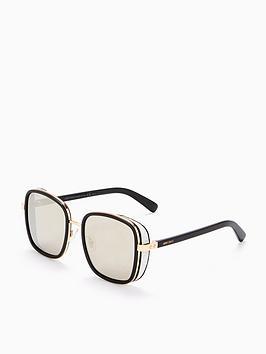 Jimmy Choo Jimmy Choo Black Gold Oversized Square Sunglasses