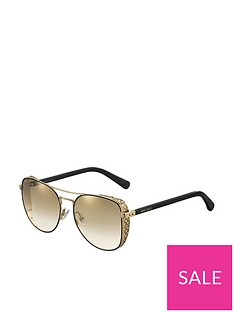 jimmy-choo-round-star-detail-sunglasses