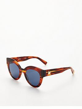 Max Mara Oval Lens Sunglasses - Blue/Tort