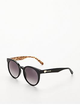 Love Moschino Leopard Logo Arm Sunglasses - Black