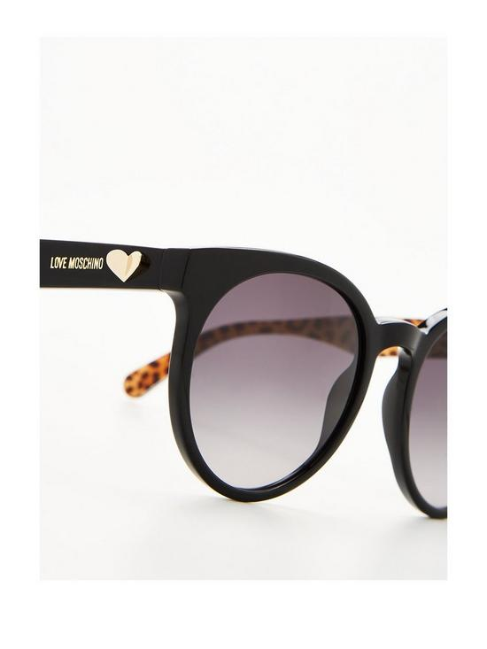e5d0b333ca ... LOVE MOSCHINO Leopard Logo Arm Sunglasses - Black. 2 people have looked  at this in the last couple of hrs.