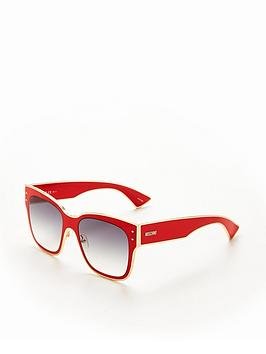 moschino-square-sunglasses-red