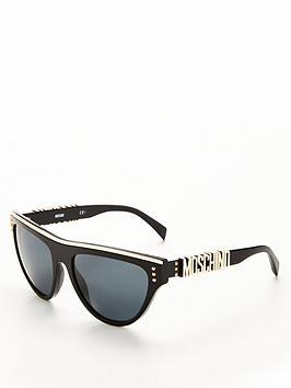 Moschino Logo Arm Sunglasses - Tortoiseshell
