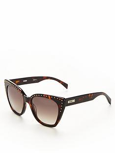 moschino-cateye-stud-detail-sunglasses-tortoiseshell