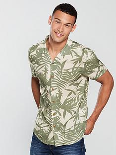 v-by-very-short-sleeved-palm-print-shirt