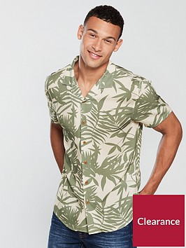 v-by-very-short-sleeved-palm-print-shirt