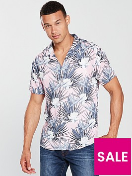 v-by-very-short-sleeved-floral-print-shirt
