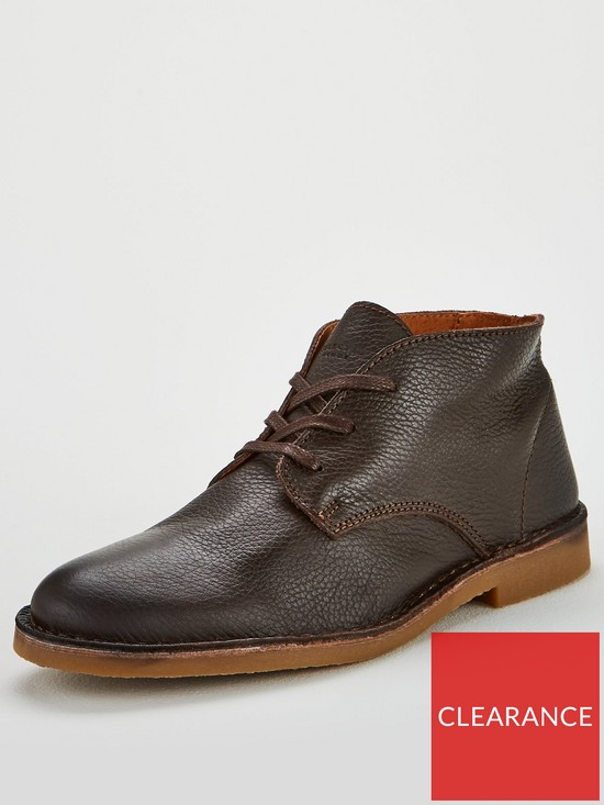 low priced 7a782 98044 Selected Homme Selected Homme Royce Leather Desert Boots
