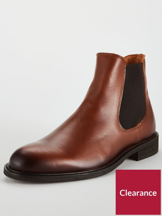 7d48b56395cd2 Selected Homme Selected Homme Baxter Leather Chelsea Boots   very.co.uk