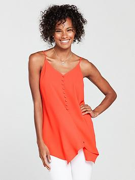 v-by-very-button-through-longline-caminbsp--coral