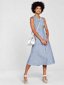 warehouse-stripe-midi-dress